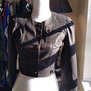 NWOTSz 0 Bebe cropped puff sleeve jacket $129